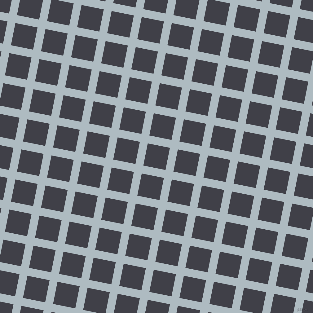 79/169 degree angle diagonal checkered chequered lines, 26 pixel lines width, 73 pixel square size, Heather and Payne