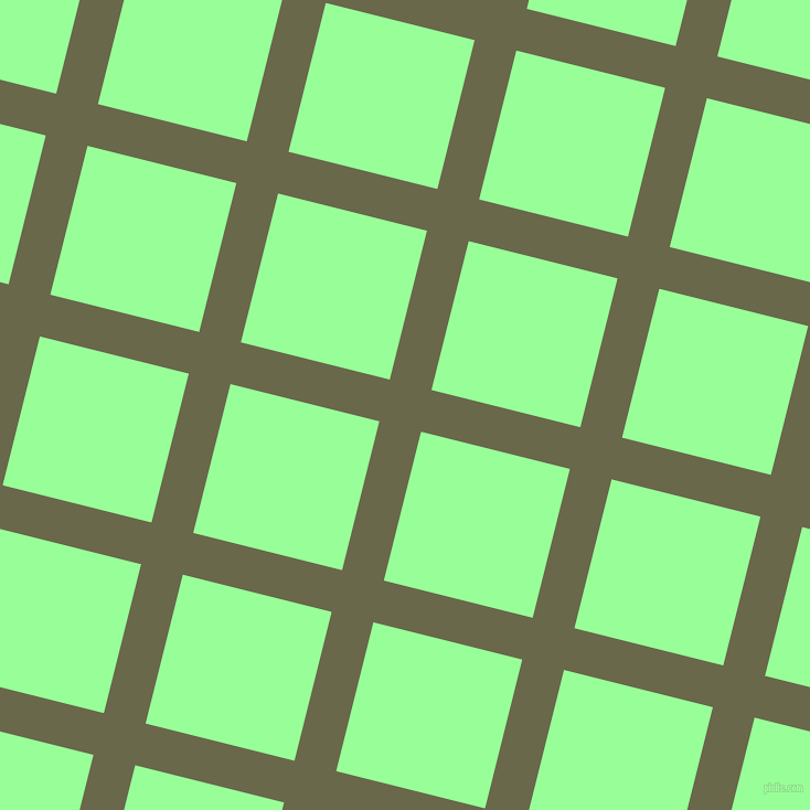 76/166 degree angle diagonal checkered chequered lines, 39 pixel line width, 139 pixel square size, Hemlock and Mint Green plaid checkered seamless tileable