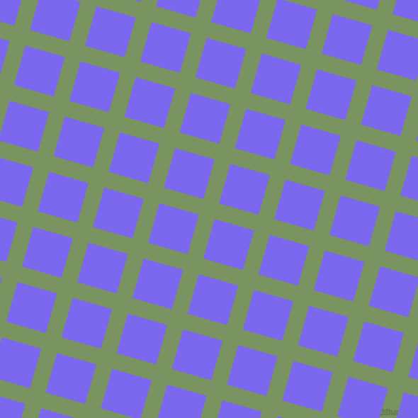74/164 degree angle diagonal checkered chequered lines, 23 pixel line width, 58 pixel square size, Highland and Medium Slate Blue plaid checkered seamless tileable