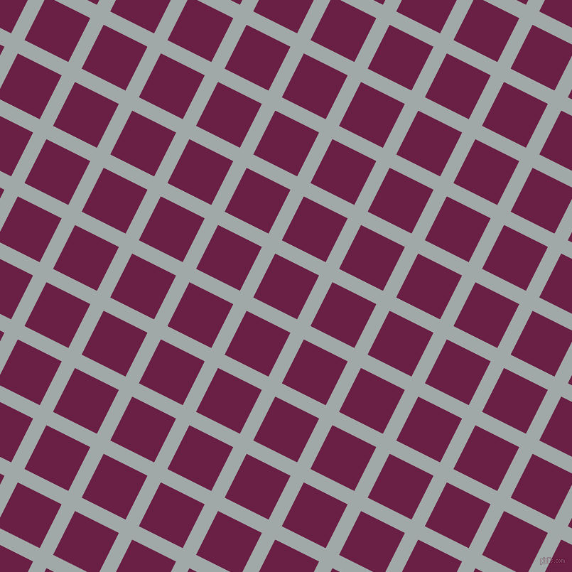 63/153 degree angle diagonal checkered chequered lines, 21 pixel line width, 69 pixel square size, Hit Grey and Pompadour plaid checkered seamless tileable