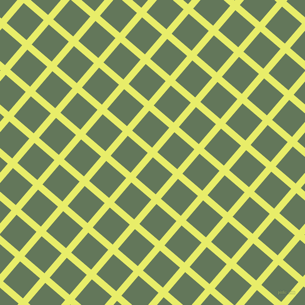 49/139 degree angle diagonal checkered chequered lines, 14 pixel line width, 54 pixel square size, Honeysuckle and Axolotl plaid checkered seamless tileable
