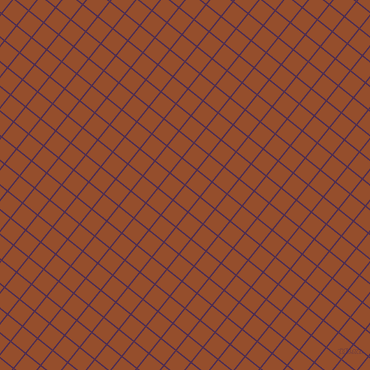 51/141 degree angle diagonal checkered chequered lines, 2 pixel line width, 26 pixel square size, Hot Purple and Alert Tan plaid checkered seamless tileable