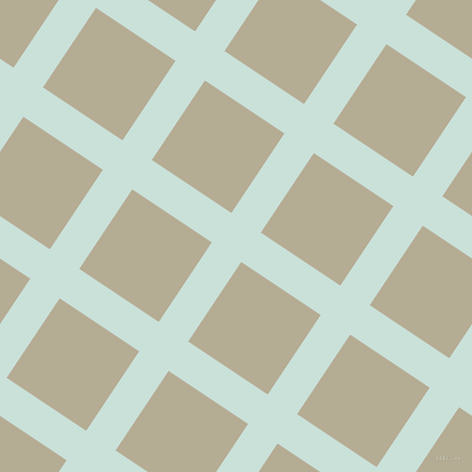 56/146 degree angle diagonal checkered chequered lines, 50 pixel line width, 135 pixel square size, Iceberg and Bison Hide plaid checkered seamless tileable