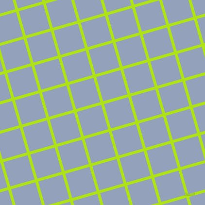 16/106 degree angle diagonal checkered chequered lines, 6 pixel line width, 52 pixel square size, Inch Worm and Rock Blue plaid checkered seamless tileable