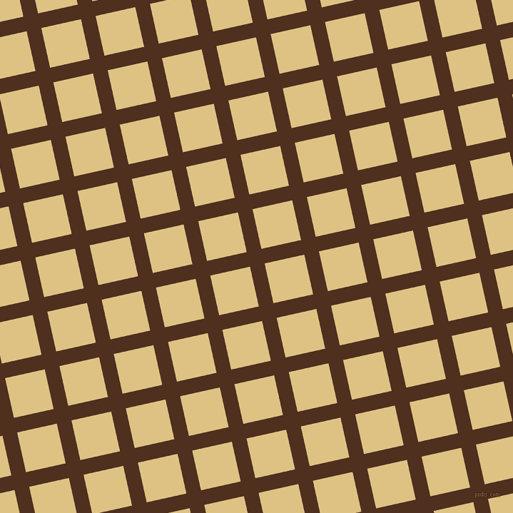 13/103 degree angle diagonal checkered chequered lines, 21 pixel line width, 57 pixel square size, Indian Tan and Zombie plaid checkered seamless tileable