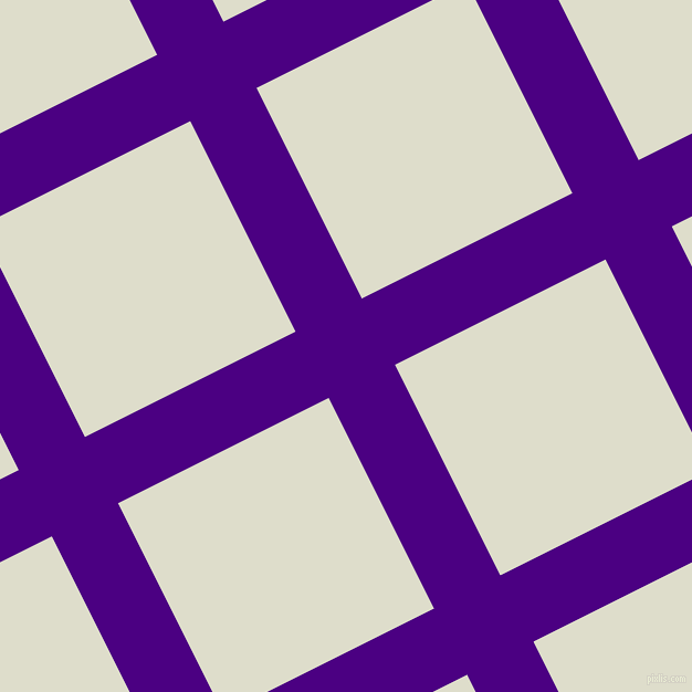 27/117 degree angle diagonal checkered chequered lines, 67 pixel lines width, 213 pixel square size, Indigo and Green White plaid checkered seamless tileable