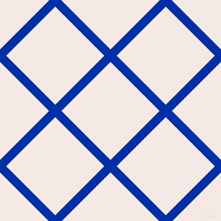 45/135 degree angle diagonal checkered chequered lines, 28 pixel lines width, 222 pixel square size, International Klein Blue and Sauvignon plaid checkered seamless tileable