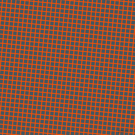 84/174 degree angle diagonal checkered chequered lines, 3 pixel line width, 12 pixel square size, International Orange and San Juan plaid checkered seamless tileable