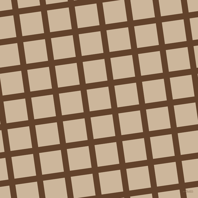 8/98 degree angle diagonal checkered chequered lines, 21 pixel line width, 76 pixel square size, Irish Coffee and Vanilla plaid checkered seamless tileable