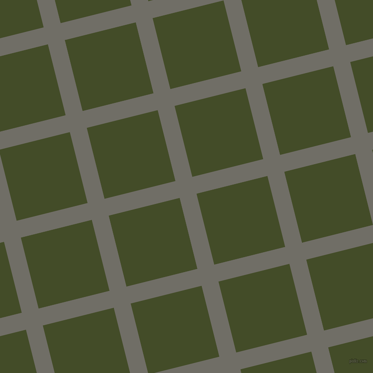 14/104 degree angle diagonal checkered chequered lines, 35 pixel line width, 147 pixel square size, Ironside Grey and Bronzetone plaid checkered seamless tileable