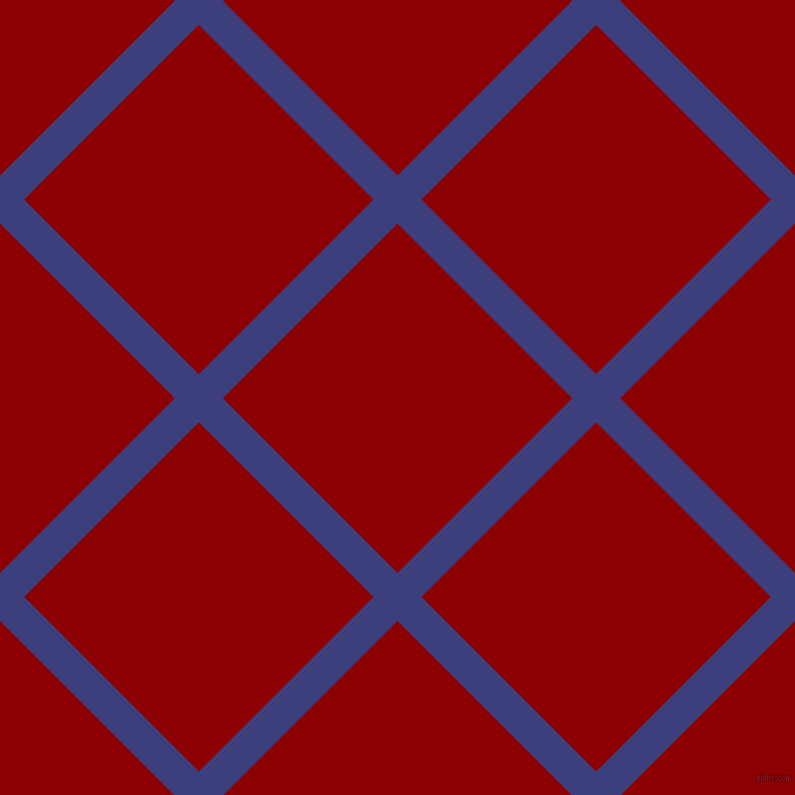 45/135 degree angle diagonal checkered chequered lines, 34 pixel line width, 247 pixel square size, Jacksons Purple and Dark Red plaid checkered seamless tileable