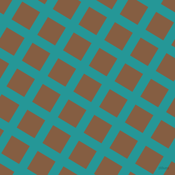 59/149 degree angle diagonal checkered chequered lines, 32 pixel line width, 72 pixel square size, Java and Dark Wood plaid checkered seamless tileable