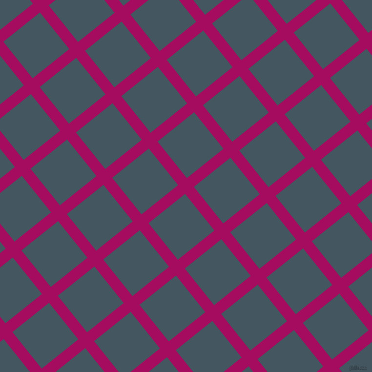 39/129 degree angle diagonal checkered chequered lines, 23 pixel lines width, 96 pixel square size, Jazzberry Jam and San Juan plaid checkered seamless tileable