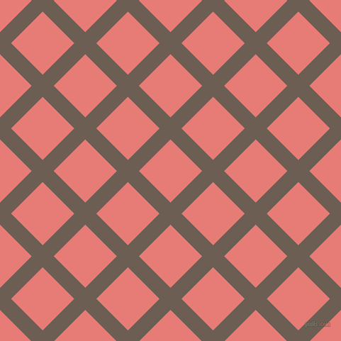 45/135 degree angle diagonal checkered chequered lines, 22 pixel lines width, 63 pixel square size, Kabul and Geraldine plaid checkered seamless tileable