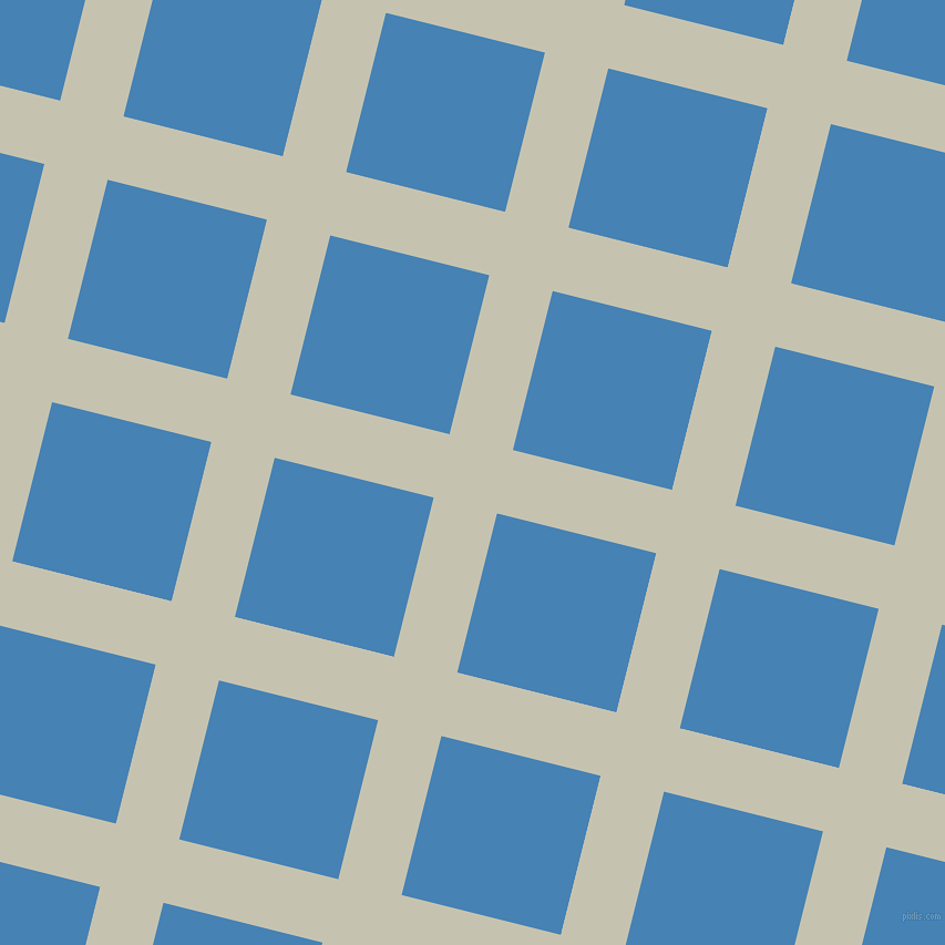 76/166 degree angle diagonal checkered chequered lines, 59 pixel lines width, 148 pixel square size, Kangaroo and Steel Blue plaid checkered seamless tileable