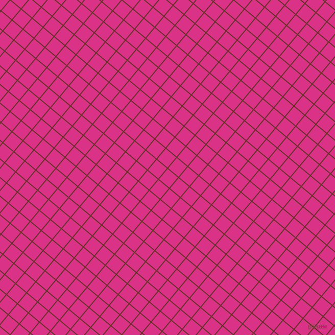 50/140 degree angle diagonal checkered chequered lines, 2 pixel lines width, 26 pixel square size, Kenyan Copper and Deep Cerise plaid checkered seamless tileable