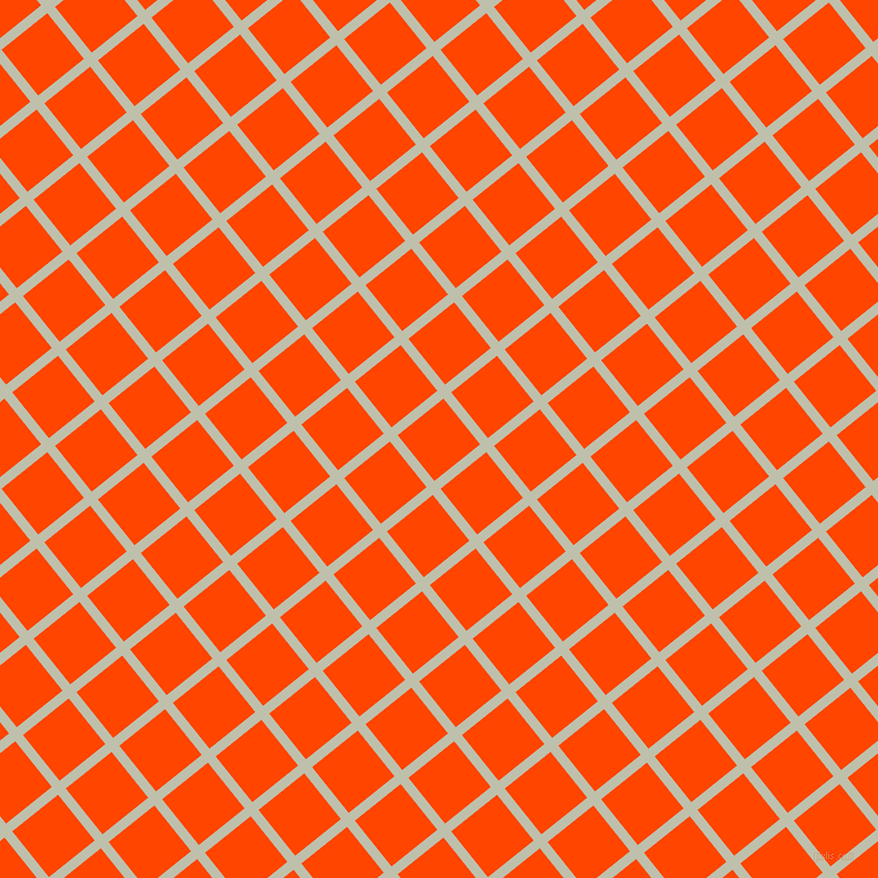 39/129 degree angle diagonal checkered chequered lines, 9 pixel line width, 53 pixel square size, Kidnapper and Orange Red plaid checkered seamless tileable