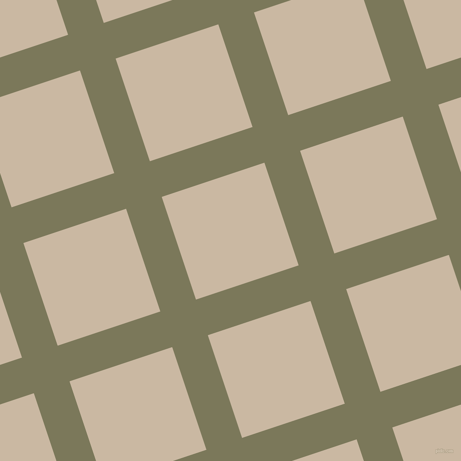 18/108 degree angle diagonal checkered chequered lines, 75 pixel line width, 216 pixel square size, Kokoda and Grain Brown plaid checkered seamless tileable