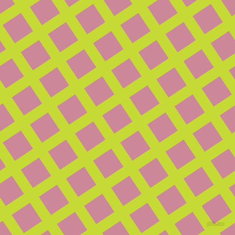 34/124 degree angle diagonal checkered chequered lines, 22 pixel line width, 45 pixel square size, Las Palmas and Puce plaid checkered seamless tileable