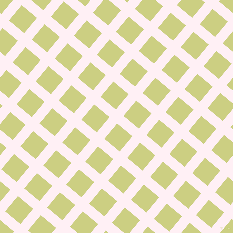 50/140 degree angle diagonal checkered chequered lines, 34 pixel line width, 68 pixel square size, Lavender Blush and Deco plaid checkered seamless tileable