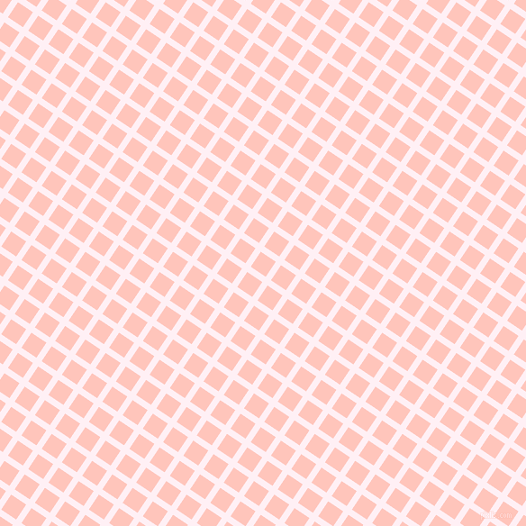56/146 degree angle diagonal checkered chequered lines, 7 pixel lines width, 20 pixel square size, Lavender Blush and Your Pink plaid checkered seamless tileable
