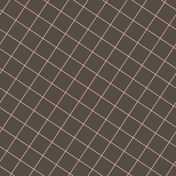 56/146 degree angle diagonal checkered chequered lines, 2 pixel lines width, 54 pixel square size, Lavender Pink and Mondo plaid checkered seamless tileable