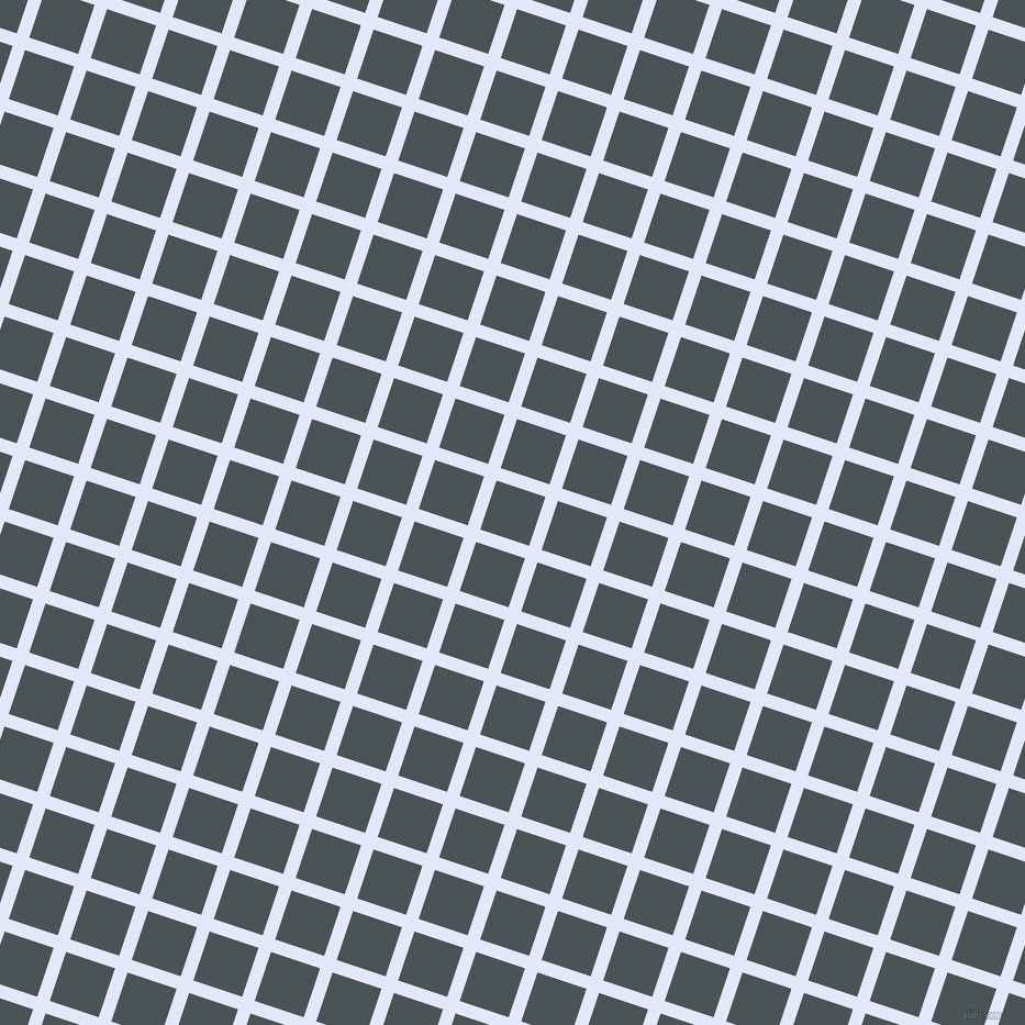 72/162 degree angle diagonal checkered chequered lines, 12 pixel line width, 47 pixel square size, Lavender and Trout plaid checkered seamless tileable