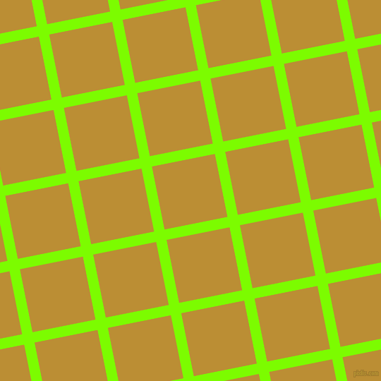 11/101 degree angle diagonal checkered chequered lines, 15 pixel lines width, 91 pixel square size, Lawn Green and Hokey Pokey plaid checkered seamless tileable