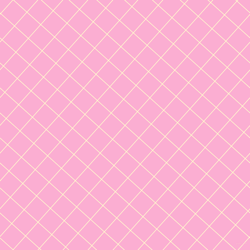 48/138 degree angle diagonal checkered chequered lines, 2 pixel lines width, 58 pixel square size, Lemon Chiffon and Lavender Pink plaid checkered seamless tileable