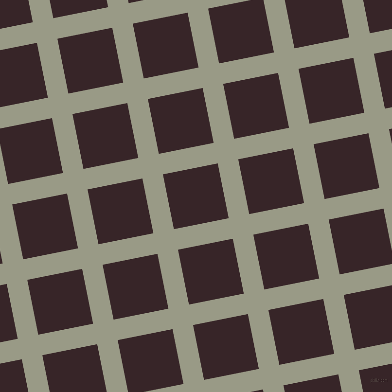 11/101 degree angle diagonal checkered chequered lines, 43 pixel line width, 115 pixel square size, Lemon Grass and Aubergine plaid checkered seamless tileable