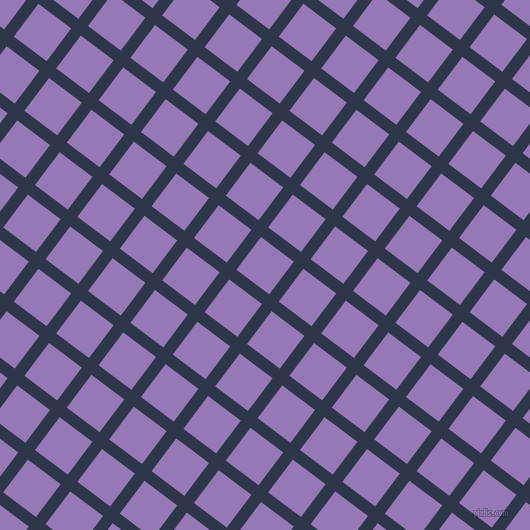 53/143 degree angle diagonal checkered chequered lines, 12 pixel line width, 41 pixel square size, Licorice and Purple Mountain