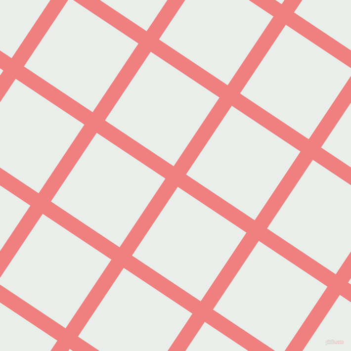 56/146 degree angle diagonal checkered chequered lines, 30 pixel line width, 167 pixel square size, Light Coral and Lily White plaid checkered seamless tileable