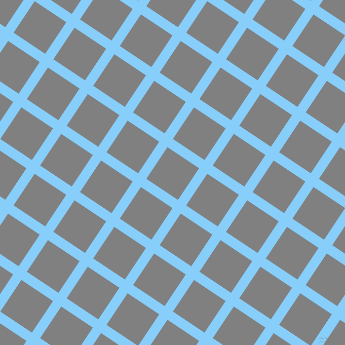 56/146 degree angle diagonal checkered chequered lines, 20 pixel line width, 77 pixel square size, Light Sky Blue and Grey plaid checkered seamless tileable
