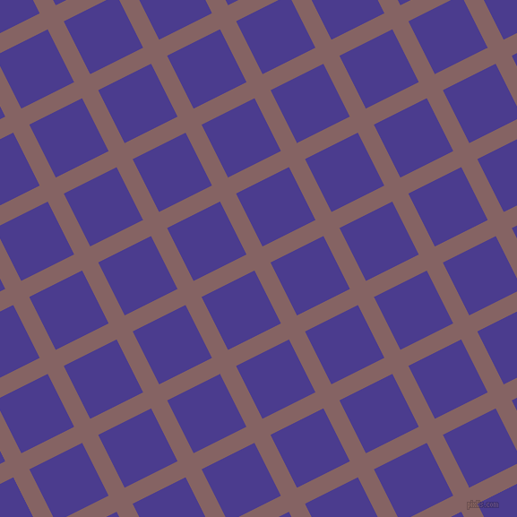 27/117 degree angle diagonal checkered chequered lines, 20 pixel line width, 66 pixel square size, Light Wood and Blue Gem plaid checkered seamless tileable