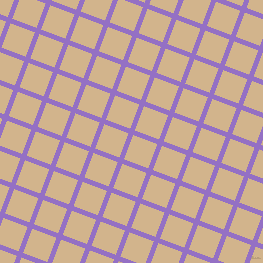 69/159 degree angle diagonal checkered chequered lines, 17 pixel line width, 90 pixel square size, Lilac Bush and Tan plaid checkered seamless tileable