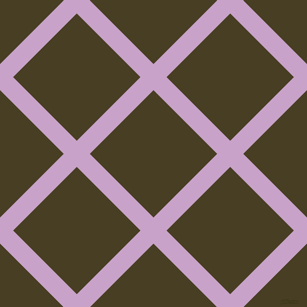 45/135 degree angle diagonal checkered chequered lines, 38 pixel lines width, 185 pixel square size, Lilac and Madras plaid checkered seamless tileable