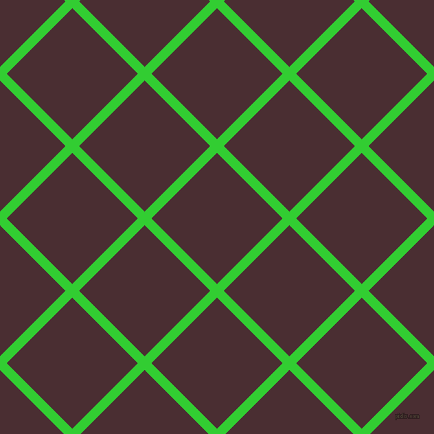 45/135 degree angle diagonal checkered chequered lines, 14 pixel line width, 135 pixel square sizeLime Green and Cab Sav plaid checkered seamless tileable