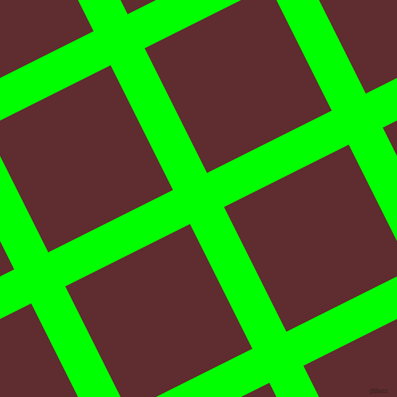 27/117 degree angle diagonal checkered chequered lines, 77 pixel line width, 282 pixel square size, Lime and Jazz plaid checkered seamless tileable