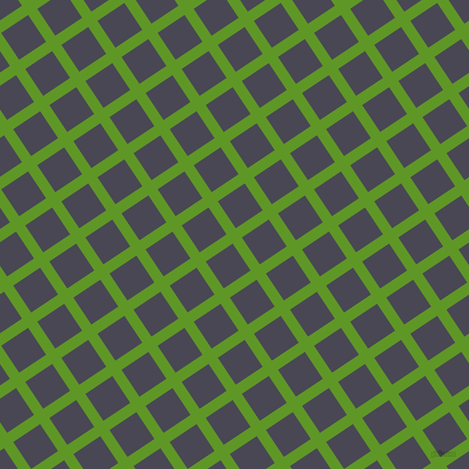 34/124 degree angle diagonal checkered chequered lines, 16 pixel line width, 47 pixel square size, Limeade and Gun Powder plaid checkered seamless tileable