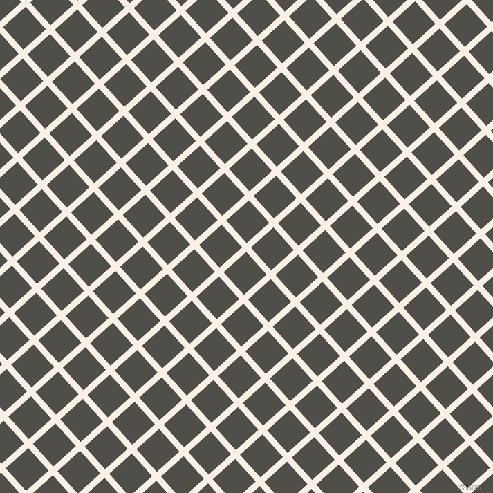 42/132 degree angle diagonal checkered chequered lines, 9 pixel line width, 44 pixel square size, Linen and Merlin plaid checkered seamless tileable