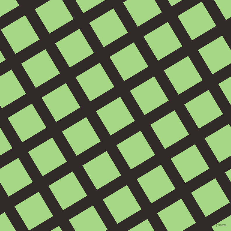 31/121 degree angle diagonal checkered chequered lines, 39 pixel lines width, 97 pixel square size, Livid Brown and Feijoa plaid checkered seamless tileable