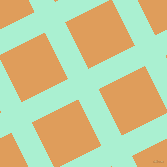 27/117 degree angle diagonal checkered chequered lines, 80 pixel line width, 183 pixel square size, Magic Mint and Porsche plaid checkered seamless tileable