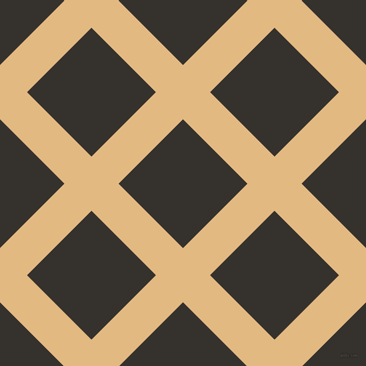 45/135 degree angle diagonal checkered chequered lines, 79 pixel lines width, 188 pixel square size, Maize and Acadia plaid checkered seamless tileable