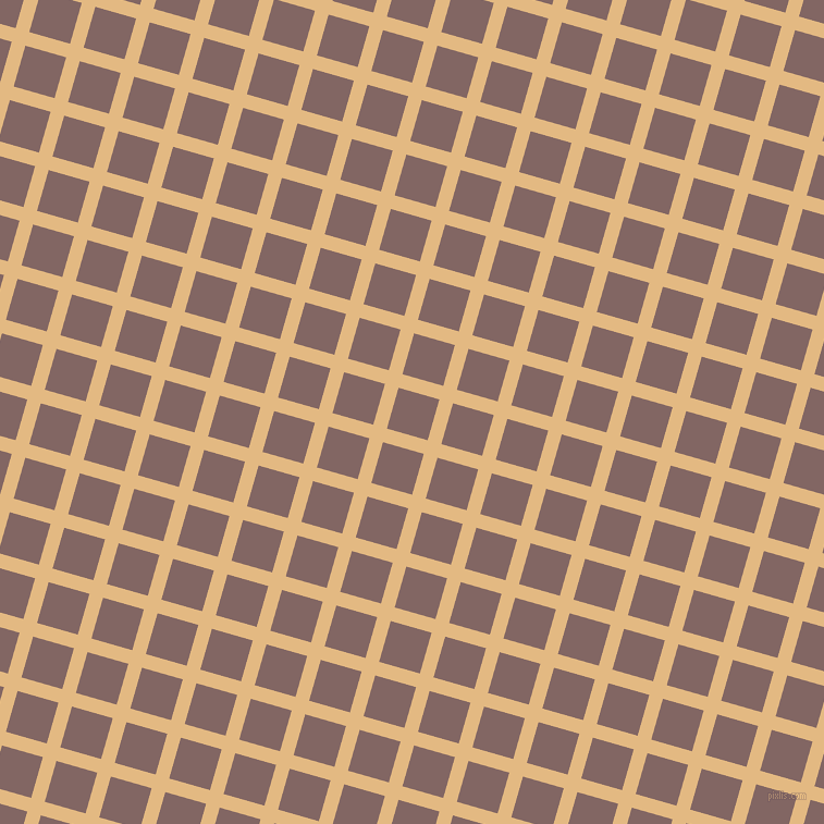 74/164 degree angle diagonal checkered chequered lines, 13 pixel line width, 39 pixel square size, Maize and Pharlap plaid checkered seamless tileable