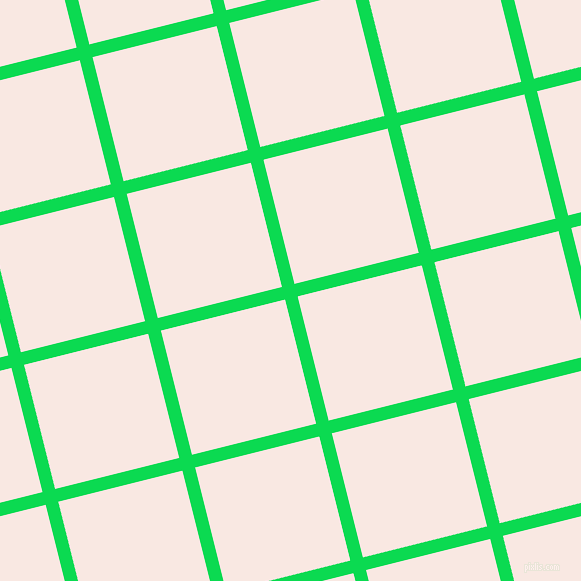14/104 degree angle diagonal checkered chequered lines, 13 pixel lines width, 128 pixel square size, Malachite and Wisp Pink plaid checkered seamless tileable