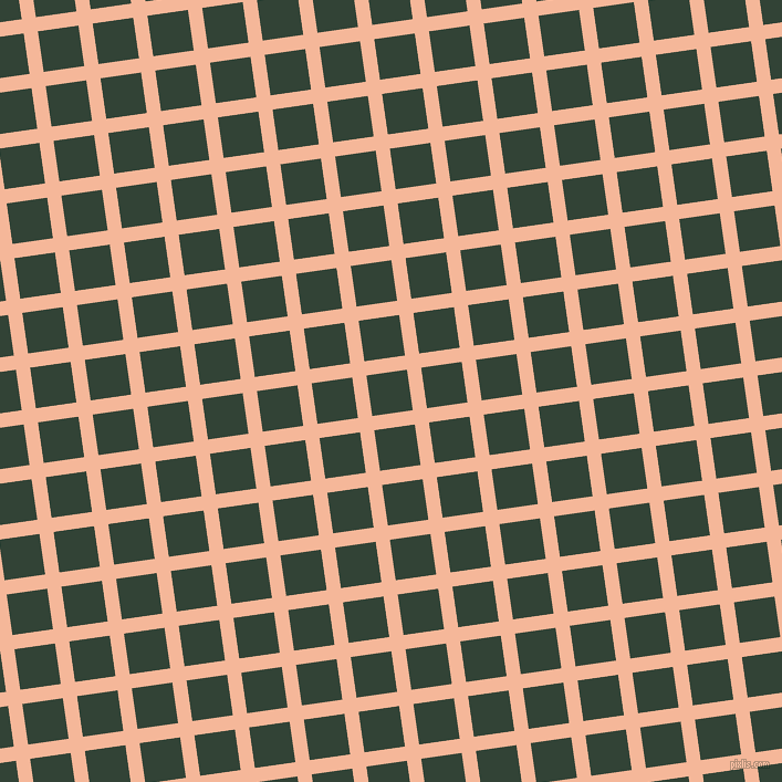 8/98 degree angle diagonal checkered chequered lines, 13 pixel lines width, 37 pixel square size, Mandys Pink and Timber Green plaid checkered seamless tileable