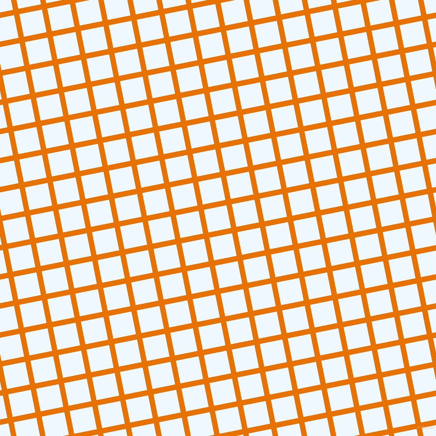 11/101 degree angle diagonal checkered chequered lines, 11 pixel line width, 47 pixel square size, Mango Tango and Alice Blue plaid checkered seamless tileable