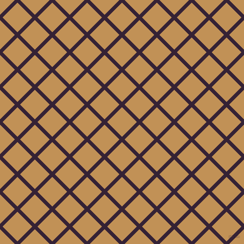 45/135 degree angle diagonal checkered chequered lines, 12 pixel line width, 68 pixel square size, Mardi Gras and Twine plaid checkered seamless tileable