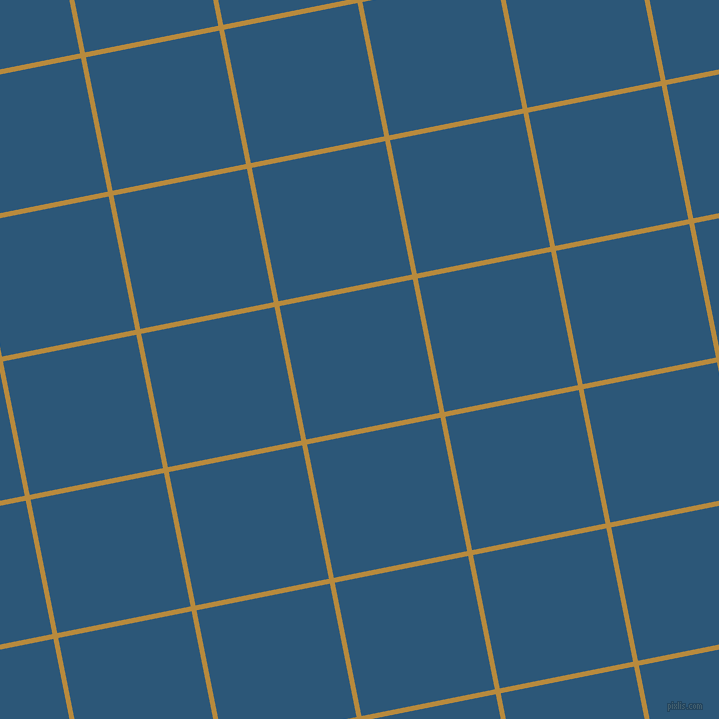 11/101 degree angle diagonal checkered chequered lines, 5 pixel lines width, 136 pixel square size, Marigold and Venice Blue plaid checkered seamless tileable