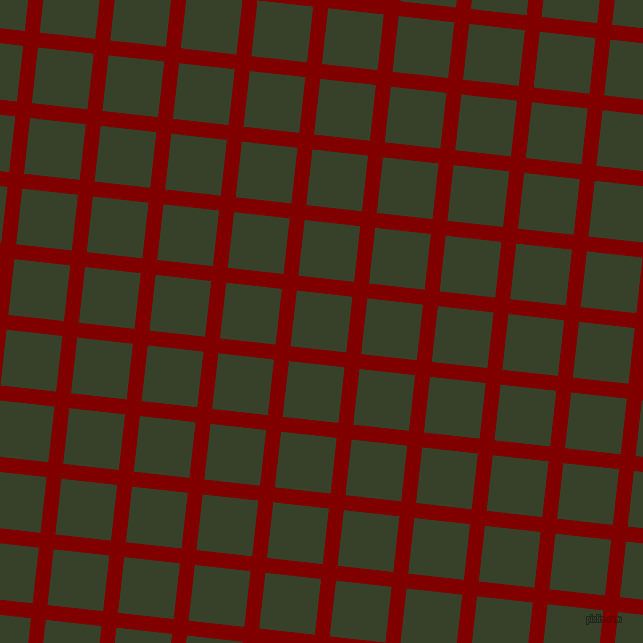 84/174 degree angle diagonal checkered chequered lines, 15 pixel line width, 56 pixel square size, Maroon and Seaweed plaid checkered seamless tileable